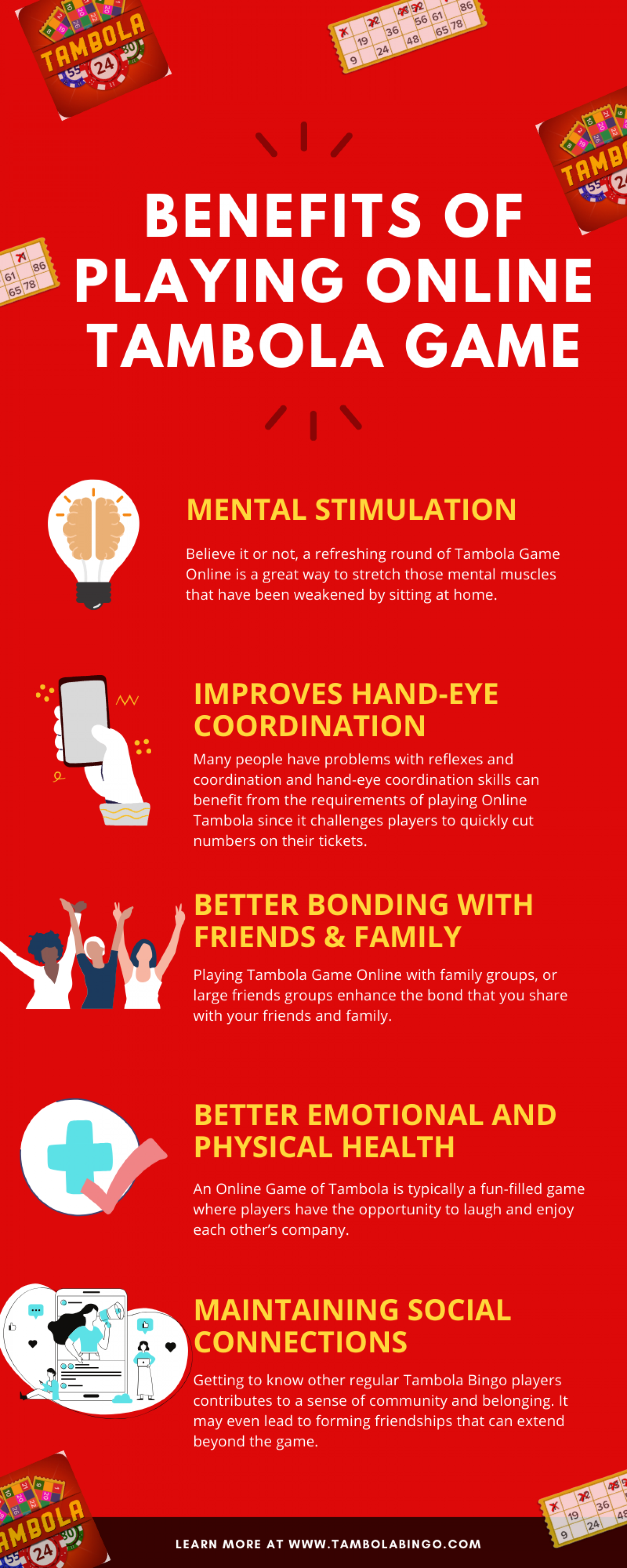 Benefits of Playing Tambola Game Online Infographic