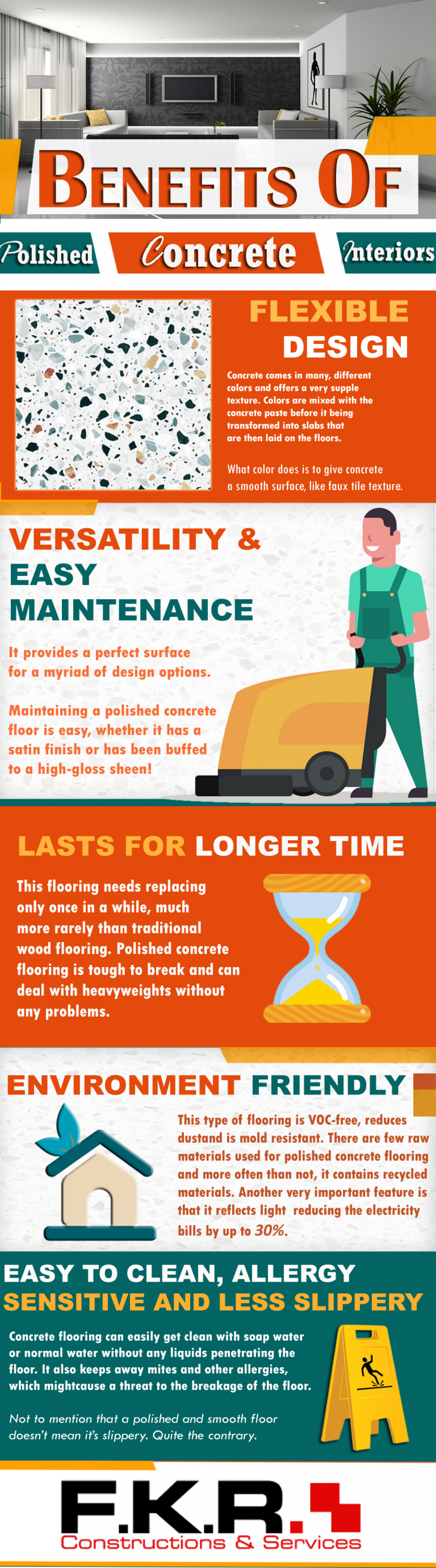 Benefits of Polished Concrete Interiors Infographic