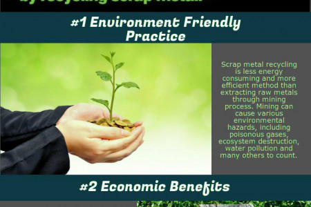 Benefits of Recycling Scrap Metal Infographic