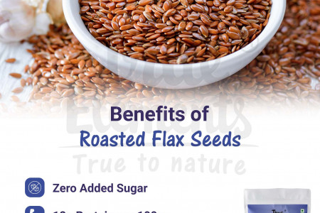 Benefits of Roasted Flax Seeds Infographic