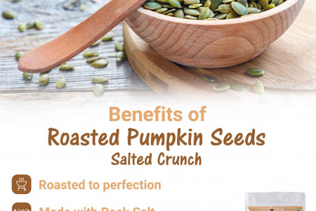 Benefits of Roasted PumpKin Seeds Salted Crunch Infographic