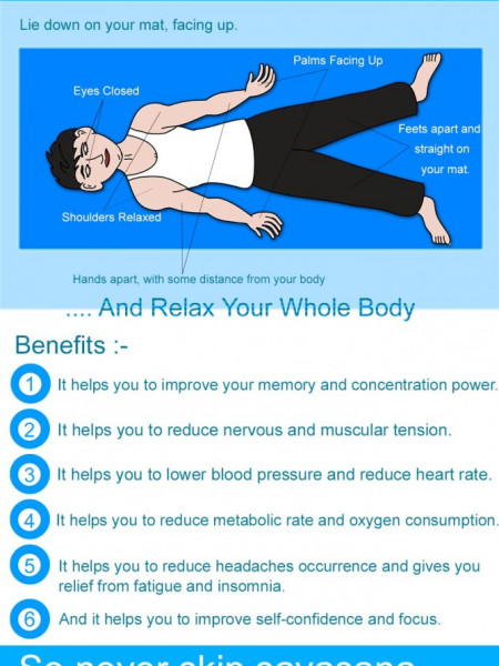 Benefits of Savasana (Corpse Pose) And How To Do It? Infographic