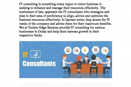 Benefits of seeking IT Consulting Services Infographic