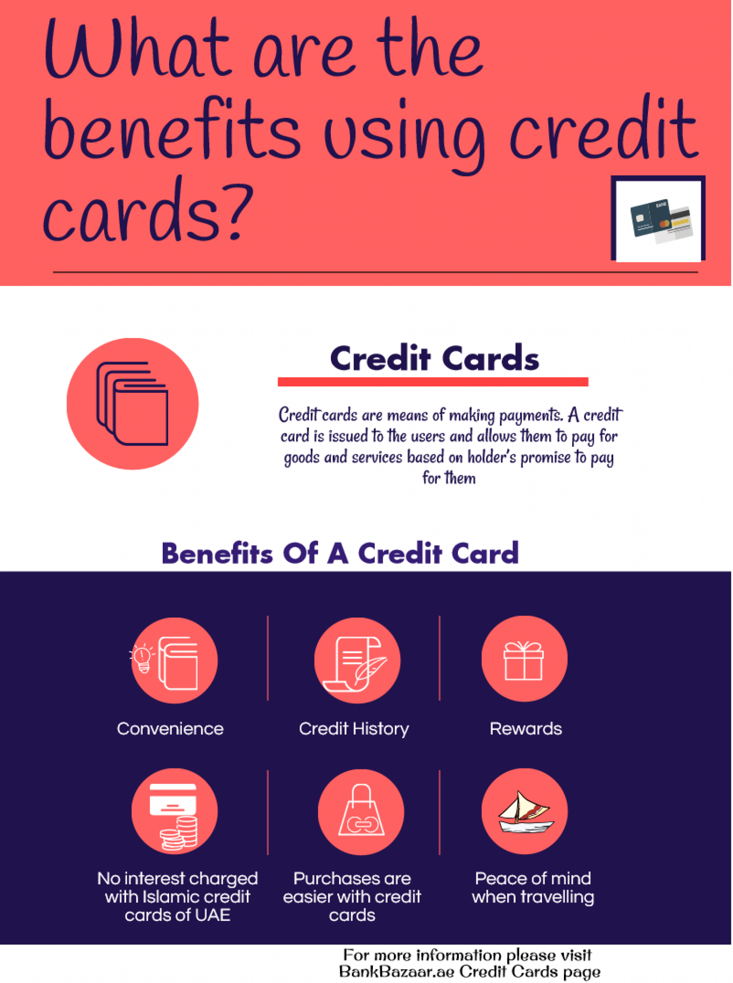 Benefits of using credit cards | Visual.ly