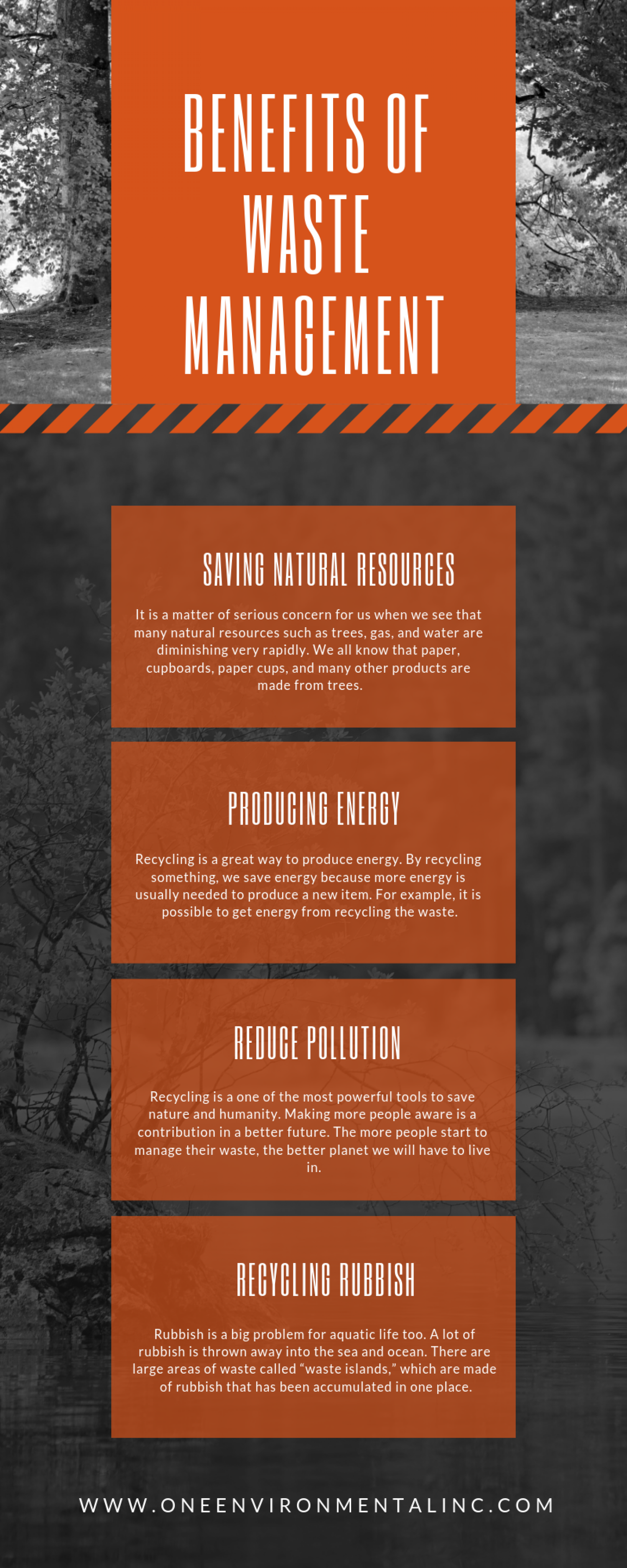 Benefits Of Waste Management Infographic