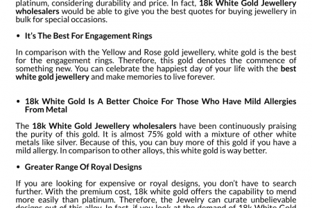 Benefits of Wearing 18k White Gold Jewelry  Infographic