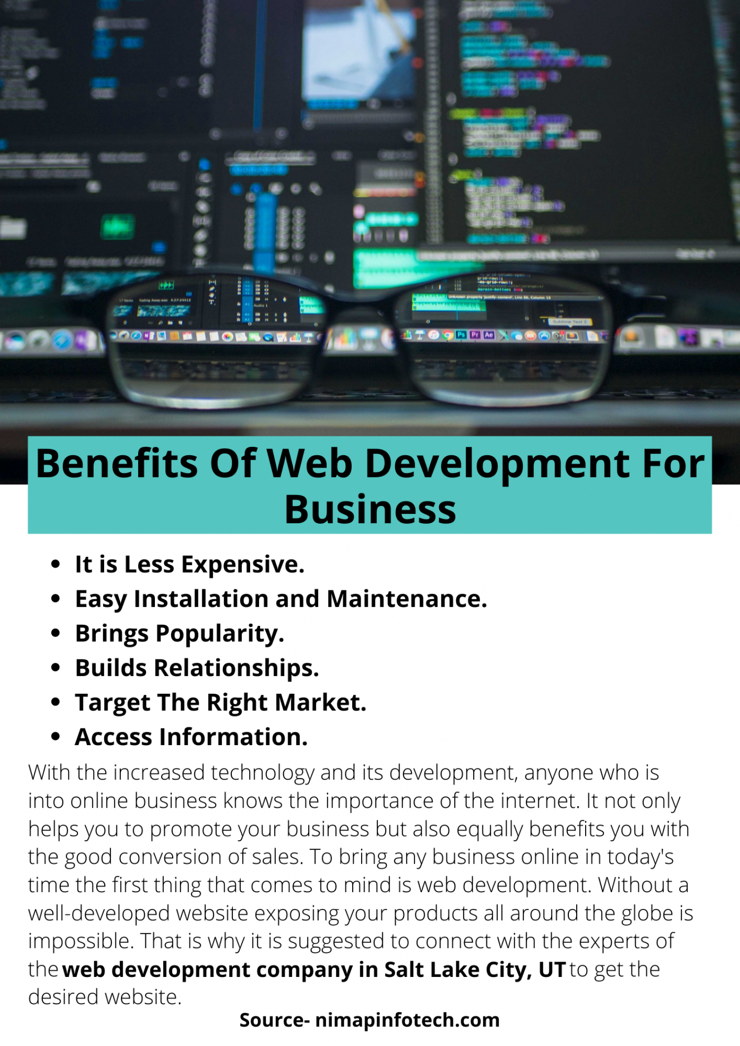 Benefits Of Web Development For Business Infographic