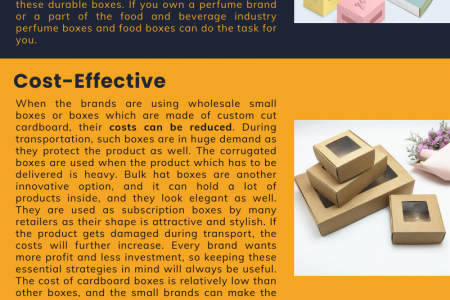 Benefits of Wholesale boxes Infographic