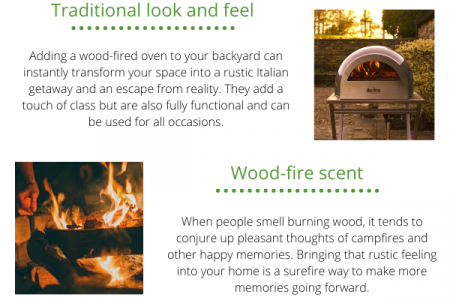 Benefits of Wood Fired Pizza Oven Infographic
