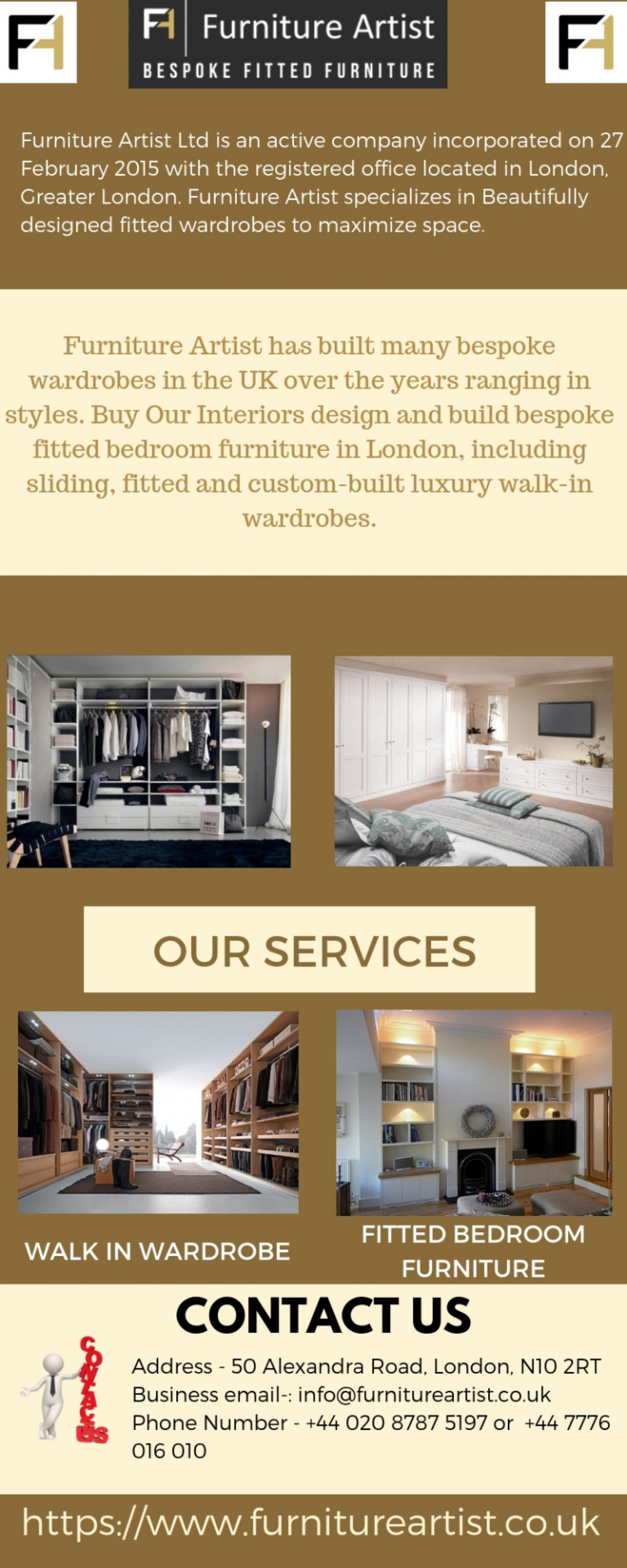 Bespoke Fitted Wardrobes London   Furniture Artist Infographic