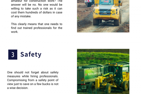 Best 5 Advantages of Hiring Professional Earth Movers Infographic