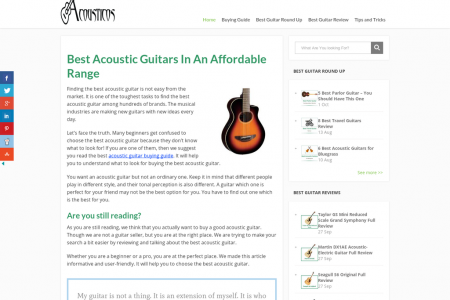 Best acoustic guitar Infographic