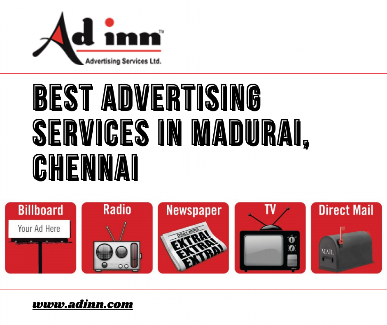 Best Advertising Services in Madurai, Chennai Infographic