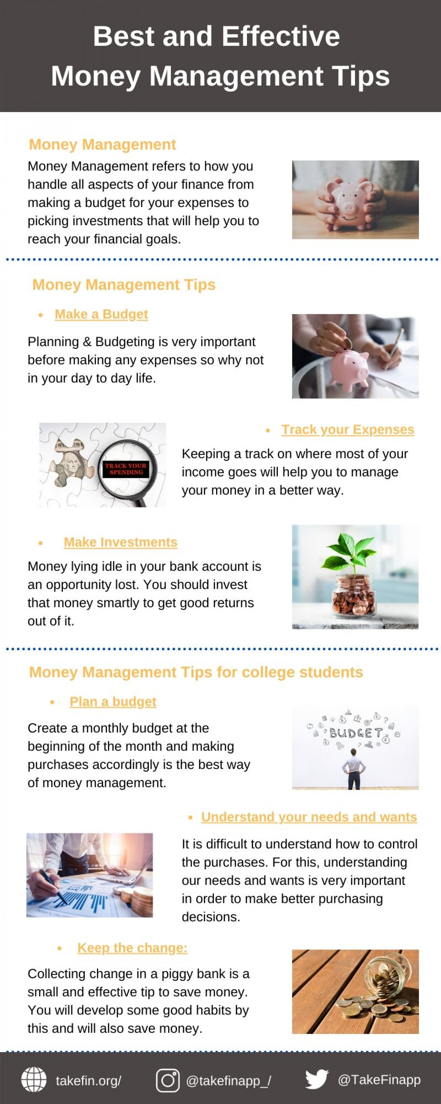 Best and Effective Money Management Tips Infographic