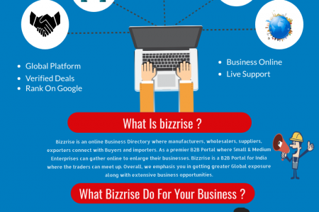 Best B2B and B2C Portal In Ludhiana India | Bizzrise Infographic
