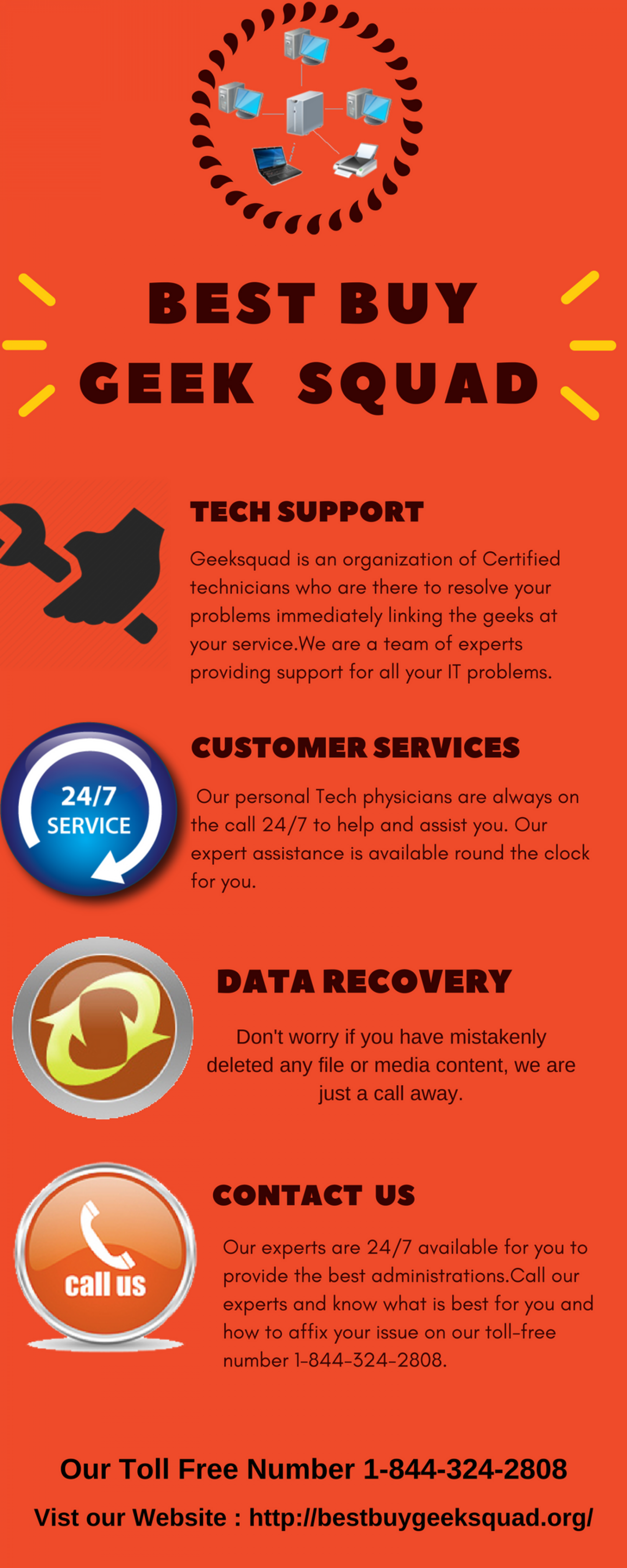 Best Buy Geek Squad Services 1-844-324-2808 Phone Number Infographic