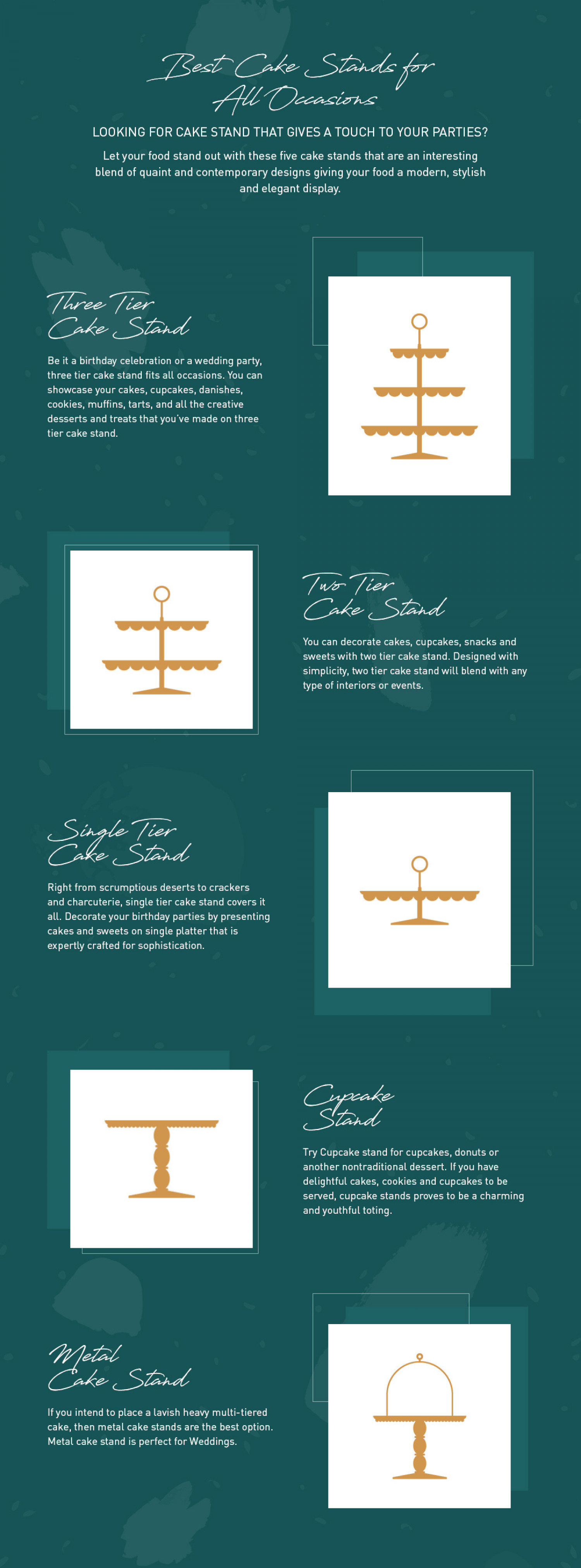 Best Cake Stands for All Occasions Infographic