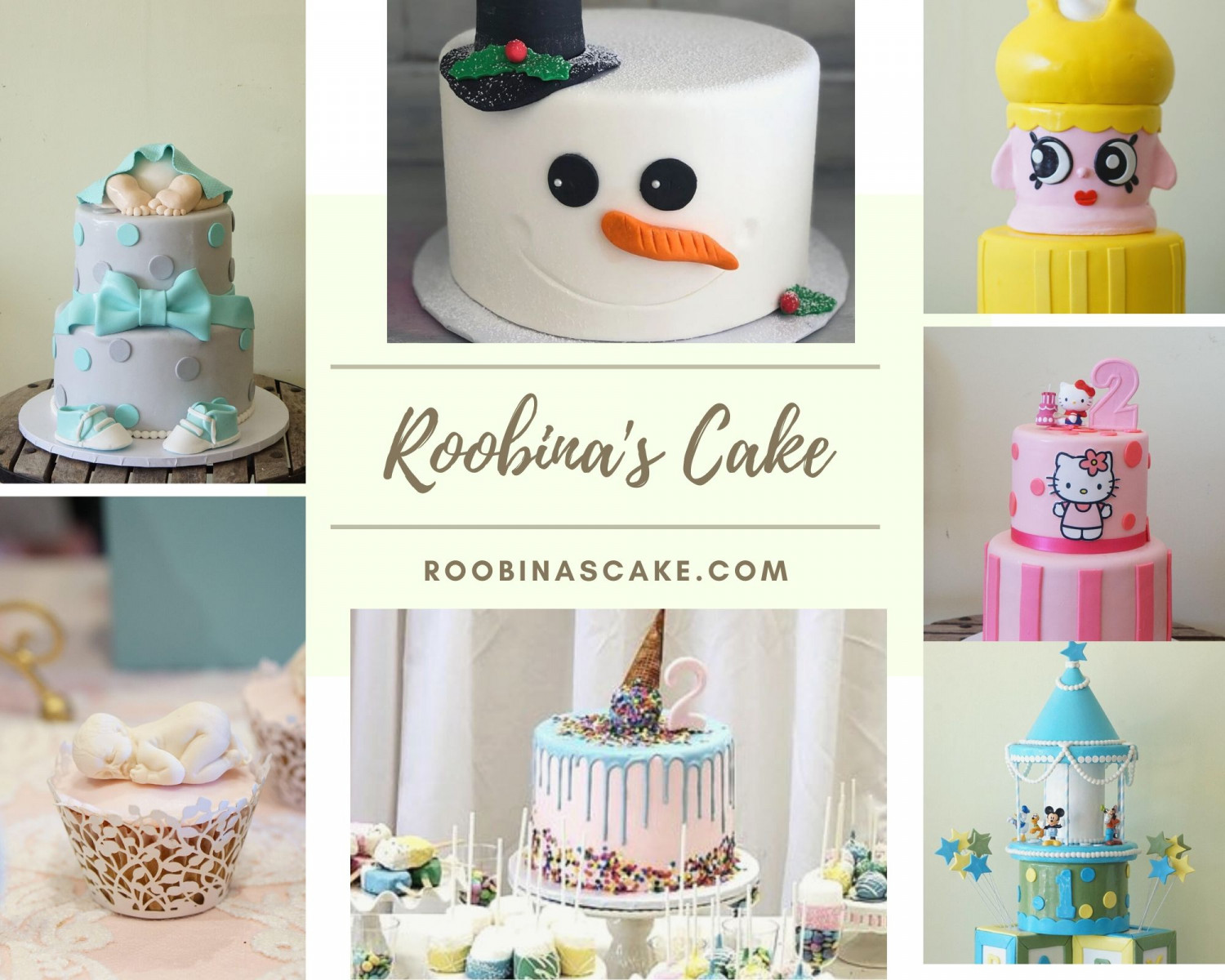 Best Cakes in Los Angeles - Only at Roobina's Cake Infographic