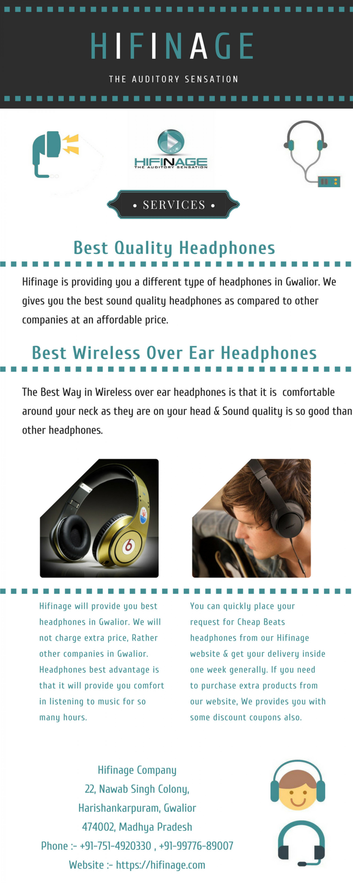 Best Cheap Wireless Over Ear Headphones Infographic