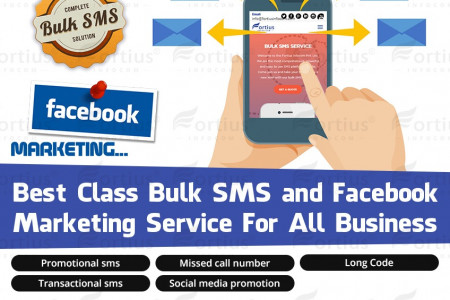 Best Class Bulk SMS And Facebook Marketing Infographic