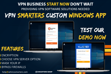 BEST CUSTOM VPN APP FOR WINDOWS - VPN SMARTERS Infographic