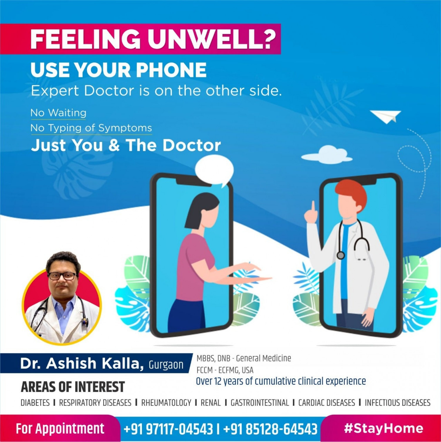 Best Diabetes Doctor in Gurgaon - Dr Ashish Kalla Infographic