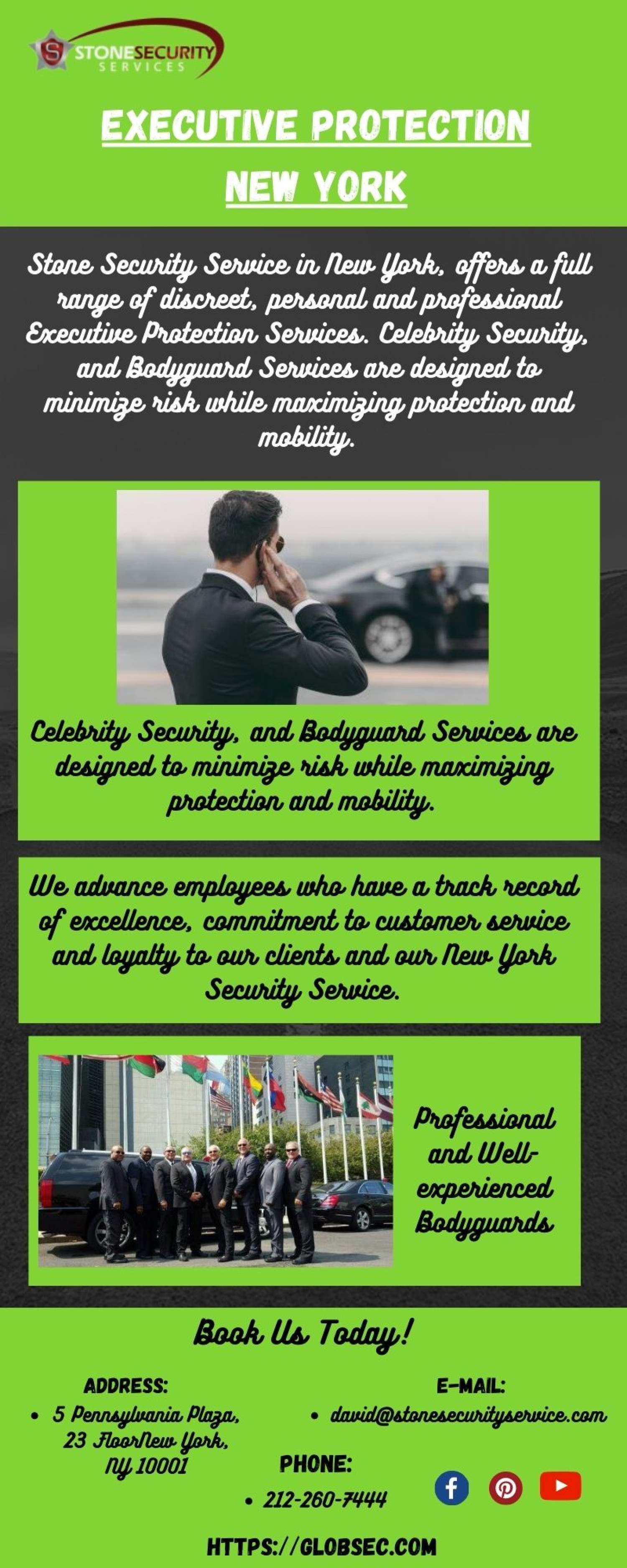 Best Executive Protection New York Infographic