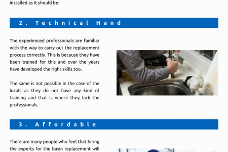 Best Features of Hiring the Professional Basin Replacement Services Infographic