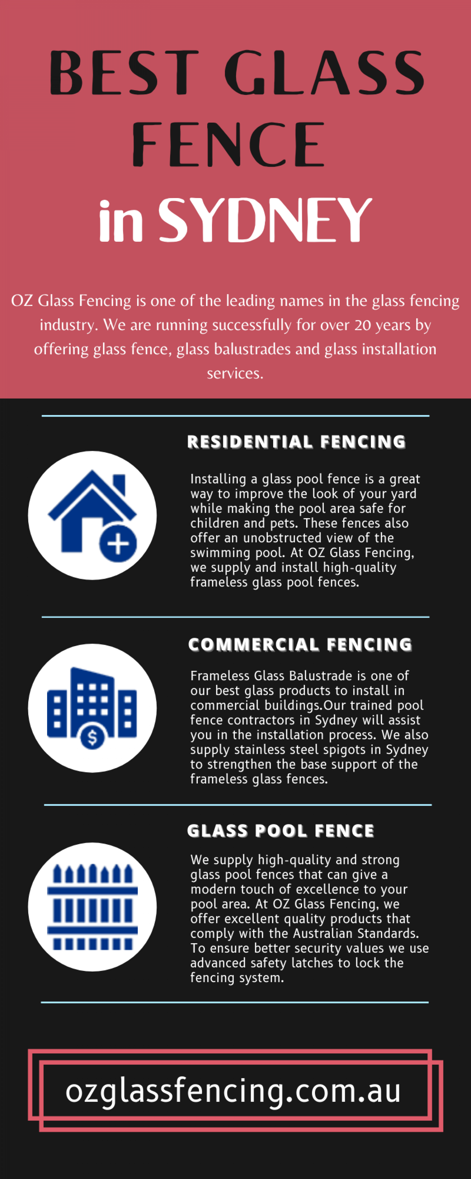 Best Glass Fence in Australia - OZ Glass Fencing Infographic
