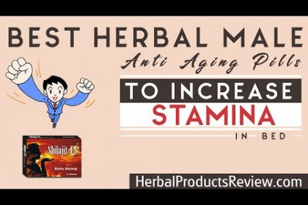 Best Herbal Male Anti Aging Pills to Increase Stamina in Bed, Energy Infographic