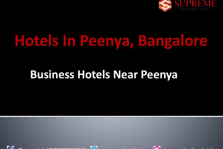 Best Hotels near Peenya Bangalore Infographic