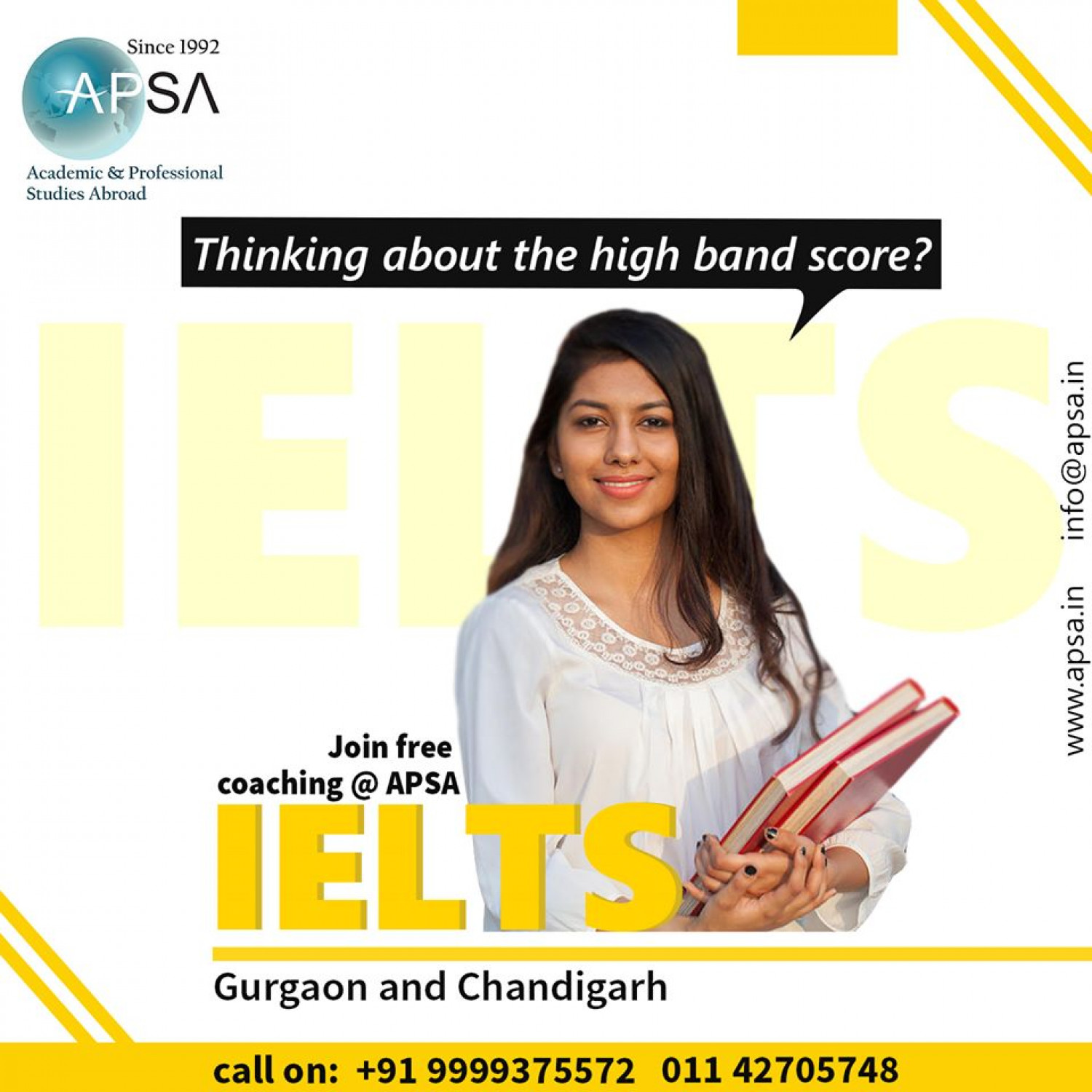 Best IELTS coaching in Gurgaon Infographic