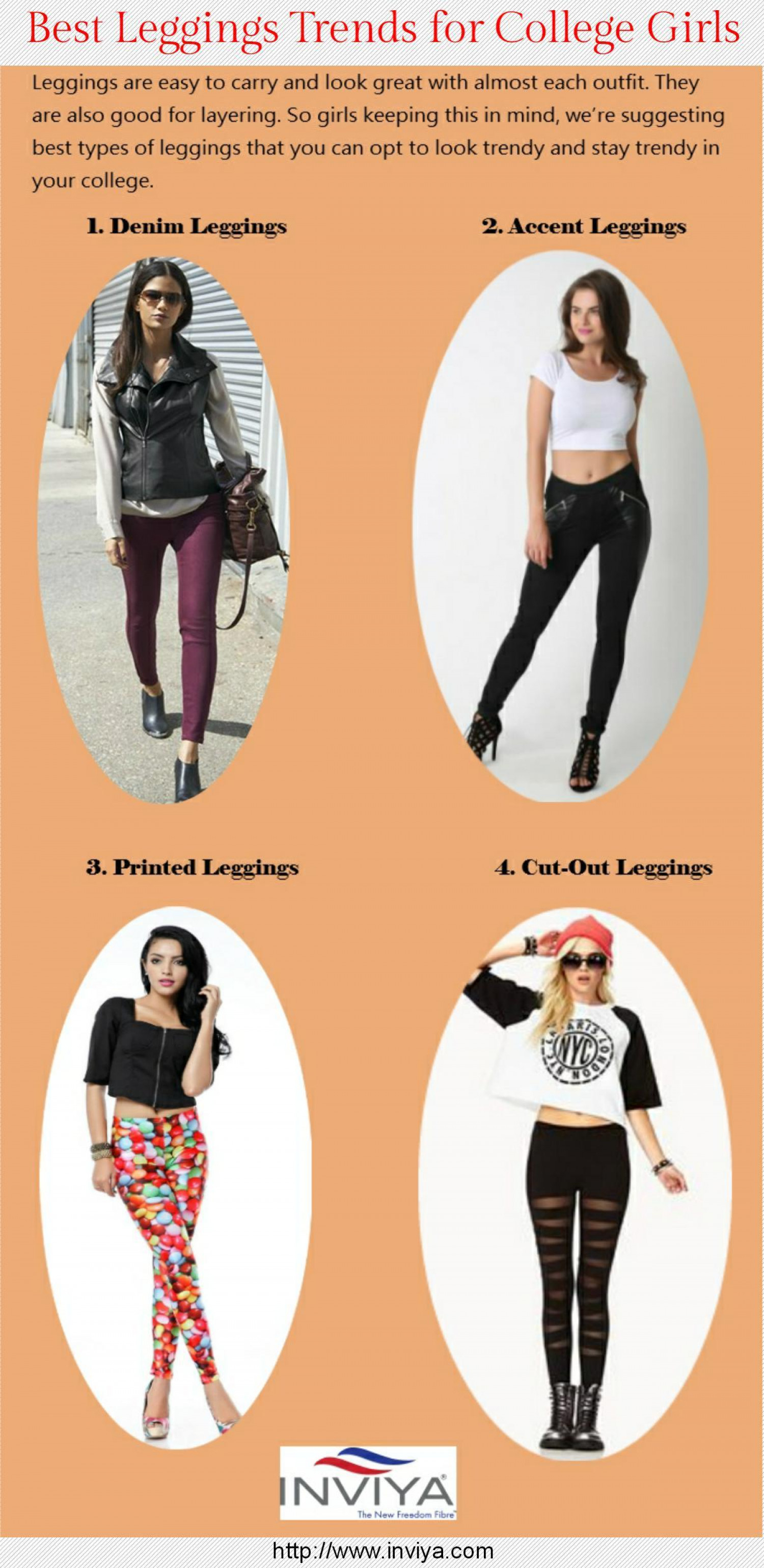 Best Leggings Trends for College Girls Infographic