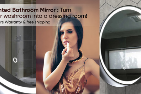 Best Lighted Bathroom Mirror From LEDMyplace Infographic