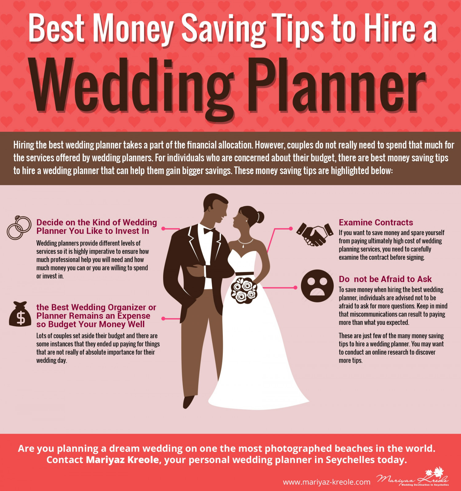 Best money saving tips to hire a wedding planner in seychelles best money saving tips to hire a wedding planner in seychelles infographic solutioingenieria Choice Image