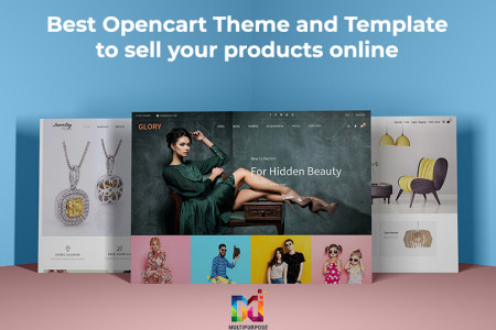 Best Opencart theme and template to sell your products online Infographic