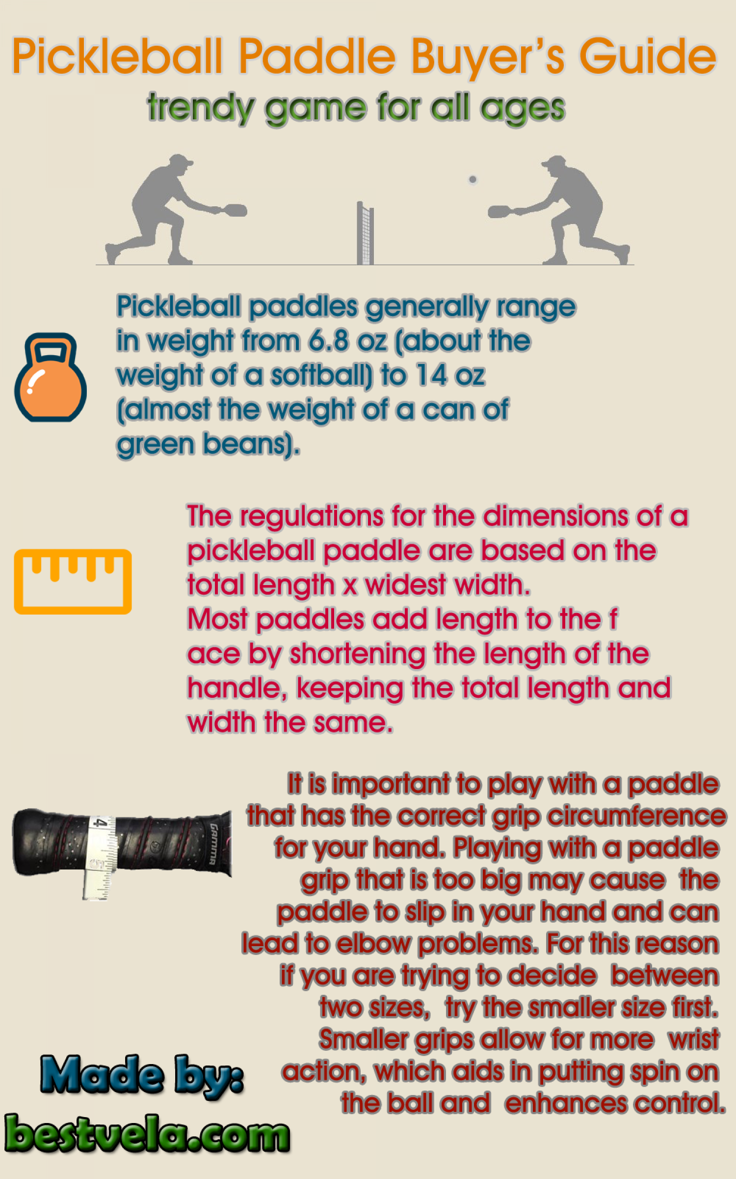 Best Pickleball Paddle Buyer's Guide Infographic