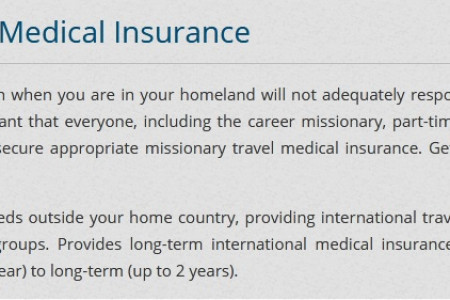 Best Place to buy Missionary Medical Insurance Infographic