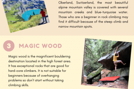 Best Places For Rock Climbing In Switzerland Infographic