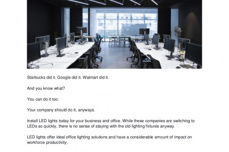 Best Quality Energy-efficient LED Office Lighting Infographic