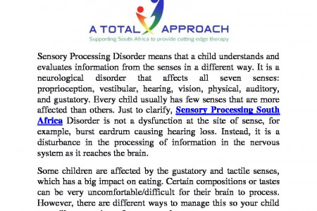 Best Sensory Processing Integration in South Africa Infographic