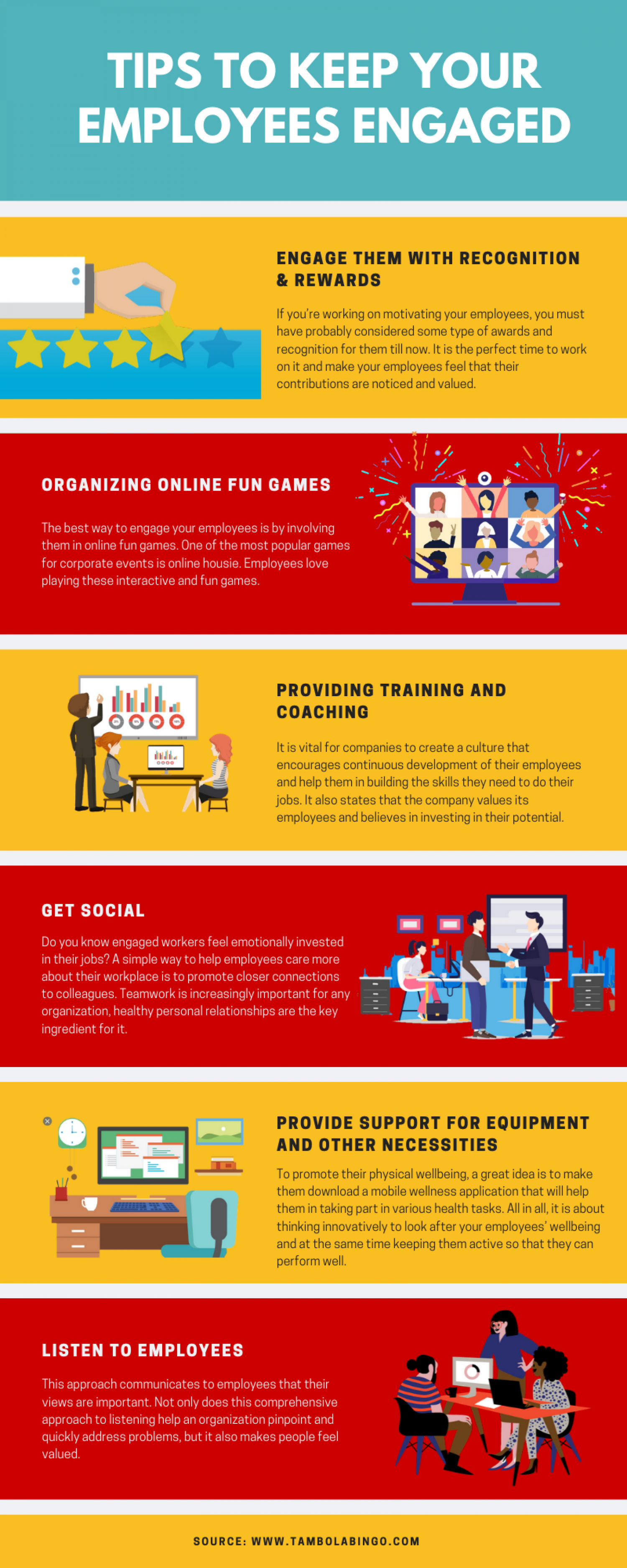 Best Tips for Corporates to Keep Employees Engaged Infographic