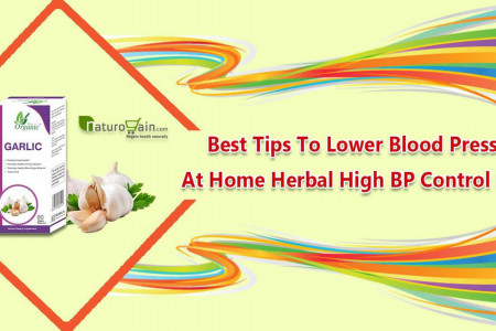 Best Tips to Lower Blood Pressure At Home Herbal High BP Control Pills Infographic