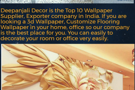 Best Wallpaper Supplier and Exporter Company in India - Deepanjali Decor Infographic
