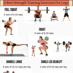 Best Weight Training Exercises For Legs Visual Ly