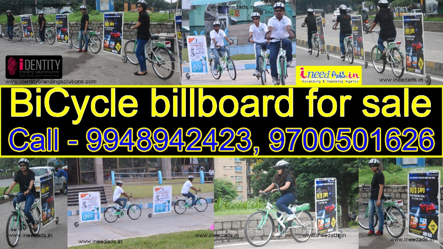 Bicycle billboard for sale, Cycle Ads| Outdoor ads Advertising| in Hyderabad. CALL 9948942423 Infographic