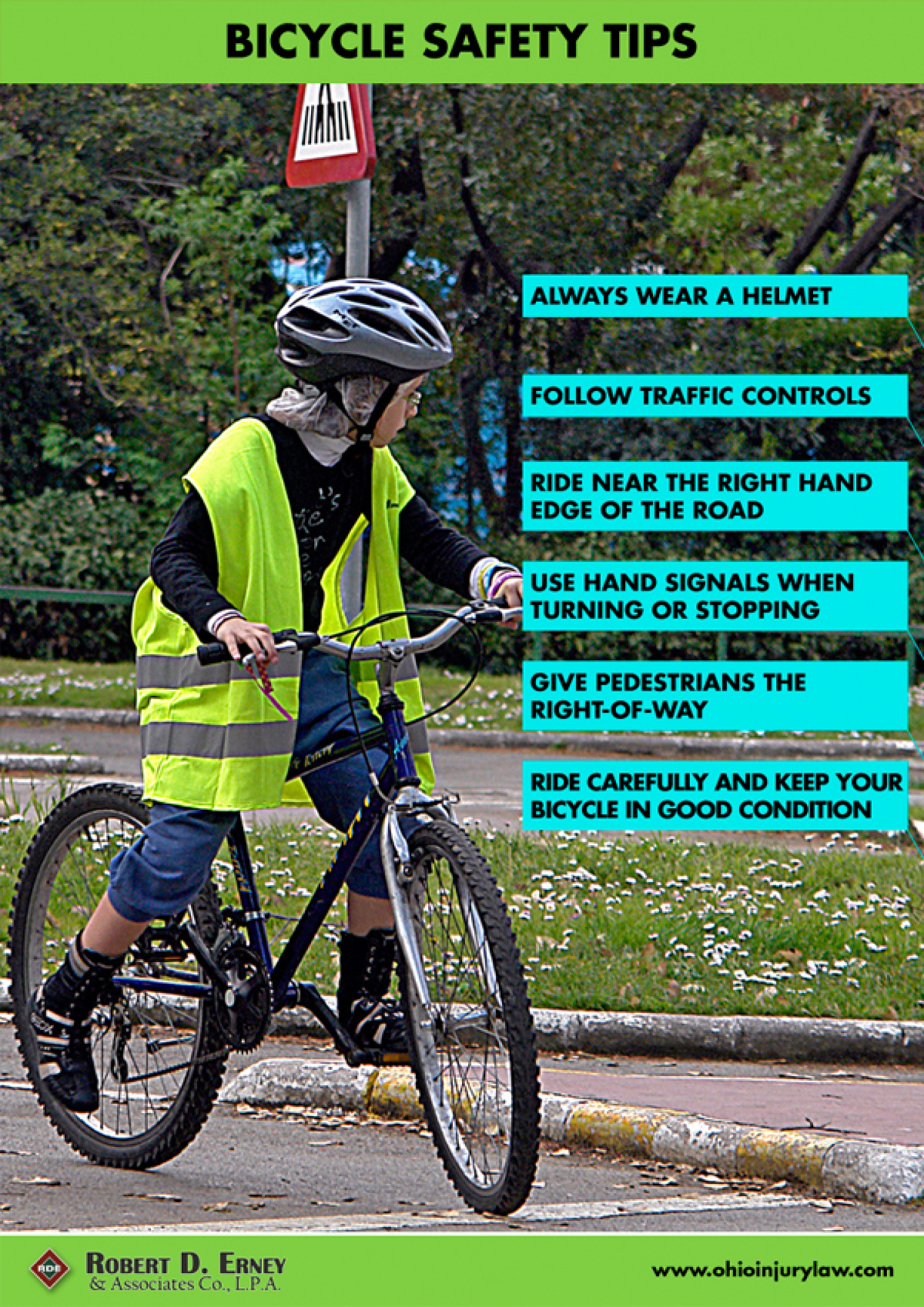 Bicycle Safety Tips Infographic