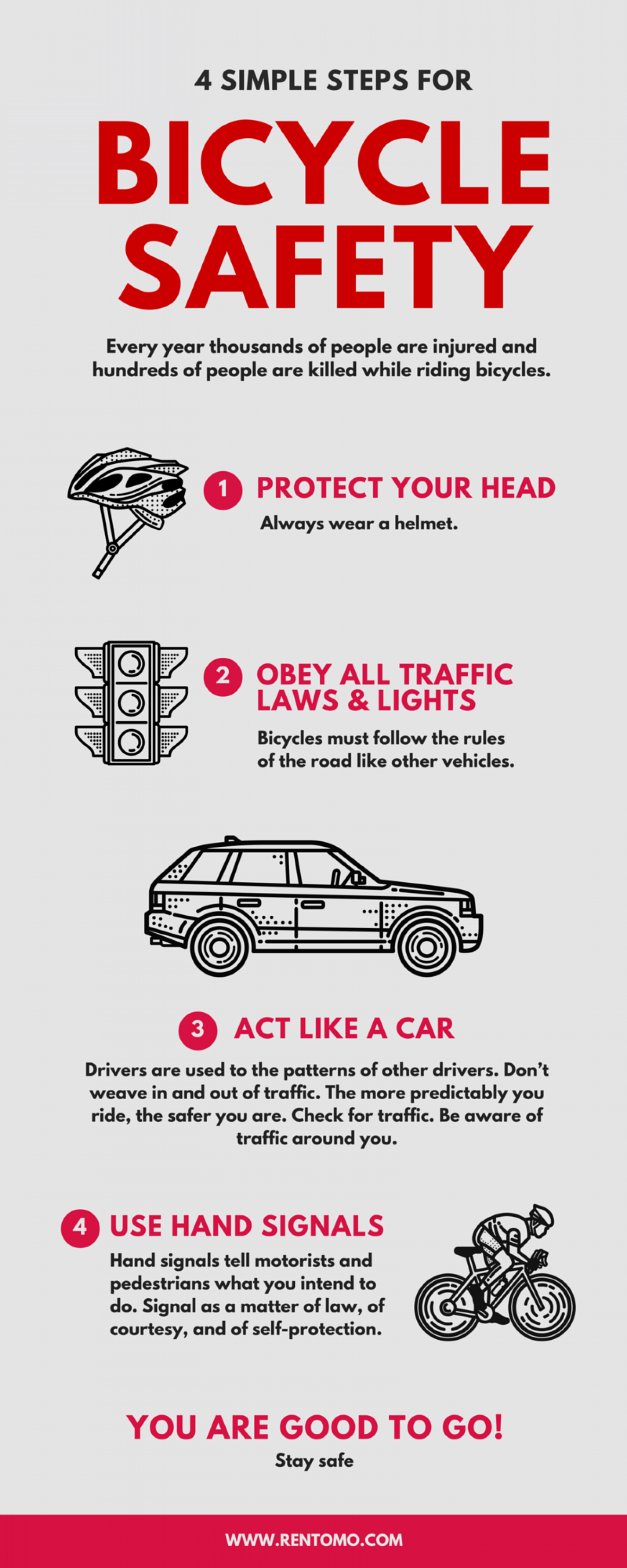 Bike Riding Safety Tips Infographic