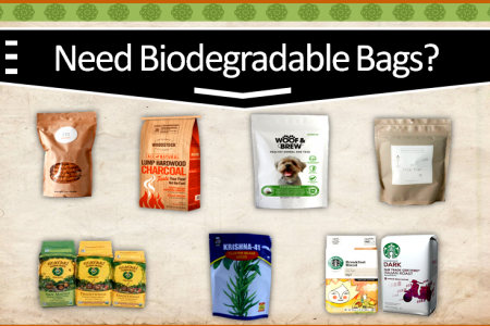 Biodegradable bags Infographic
