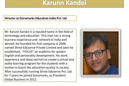 Biography - Karunn Kandoi (Director at Extramarks Education India Pvt. Ltd.) Infographic